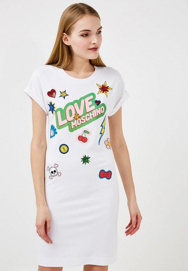 Платье Love Moschino Love Moschino LO416EWYPS96 платье love moschino love moschino lo416ewdsb07