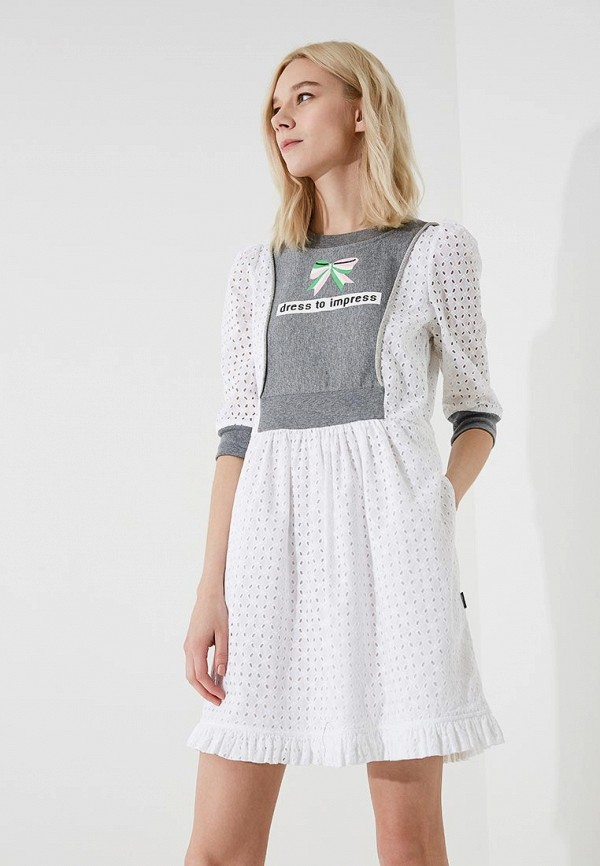 женское платье love moschino, белое