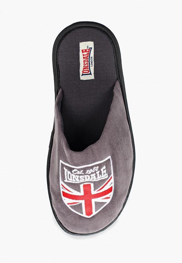 Фото 4 - Тапочки Lonsdale серого цвета