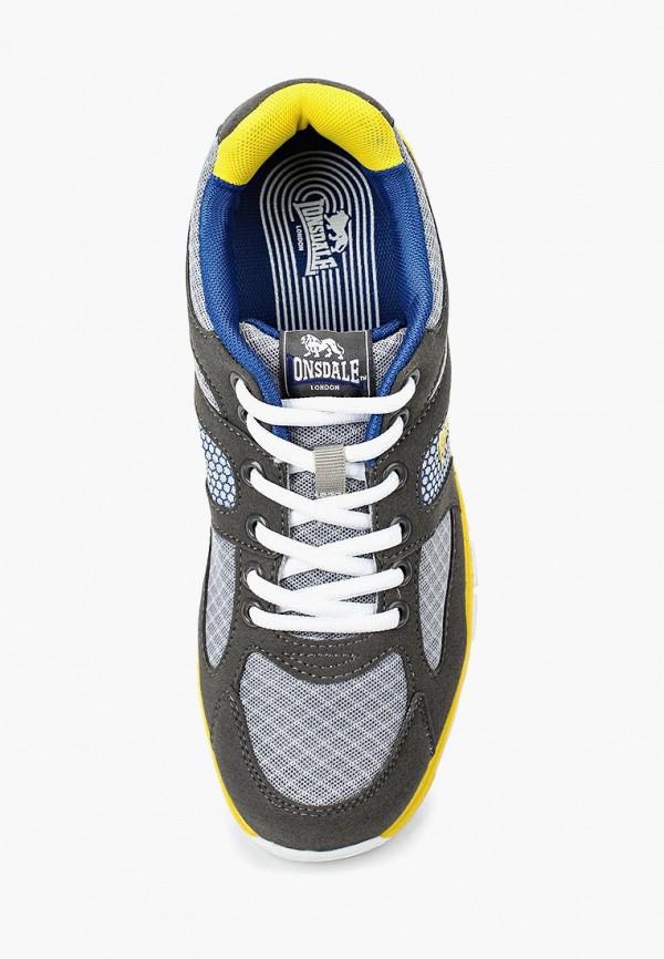 Фото 4 - мужские кроссовки Lonsdale серого цвета