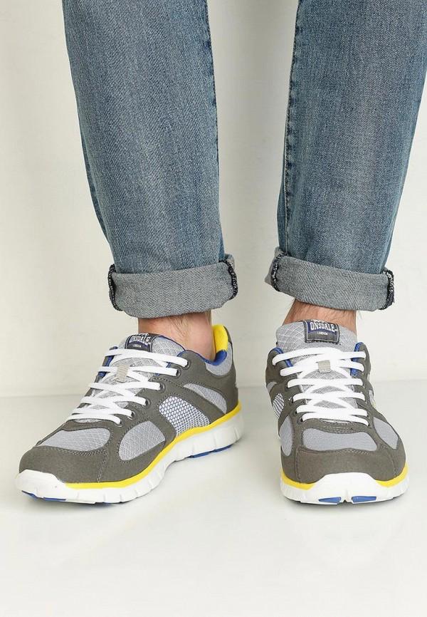 Фото 5 - мужские кроссовки Lonsdale серого цвета