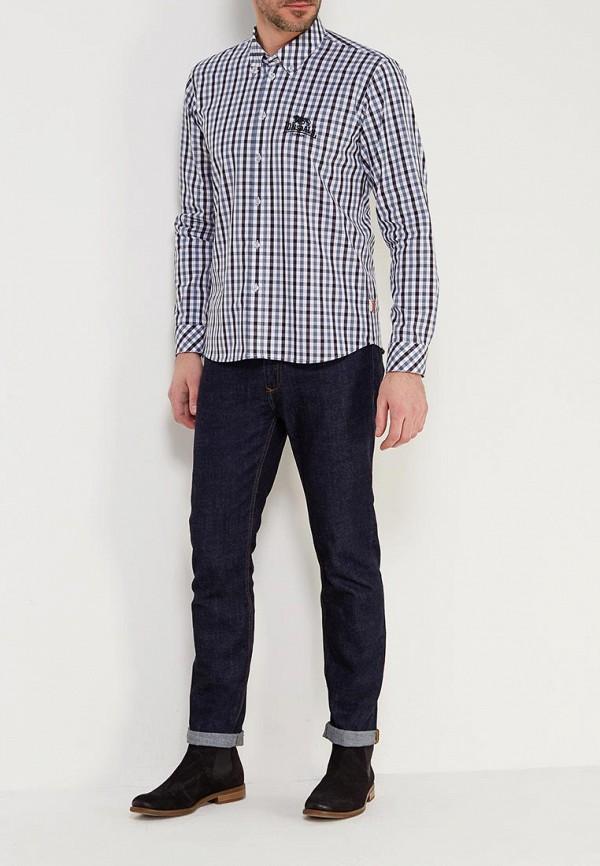 Фото 2 - мужскую рубашку Lonsdale серого цвета