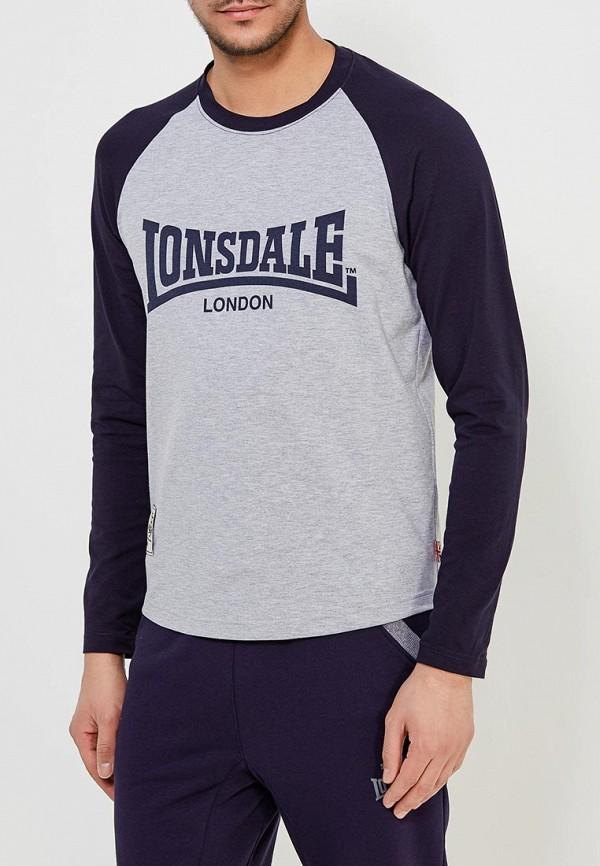Лонгслив Lonsdale Lonsdale LO789EMAPKE3 рюкзак kinderline lonsdale цвет черный голубой серый