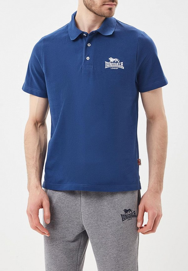 мужское поло lonsdale, синее