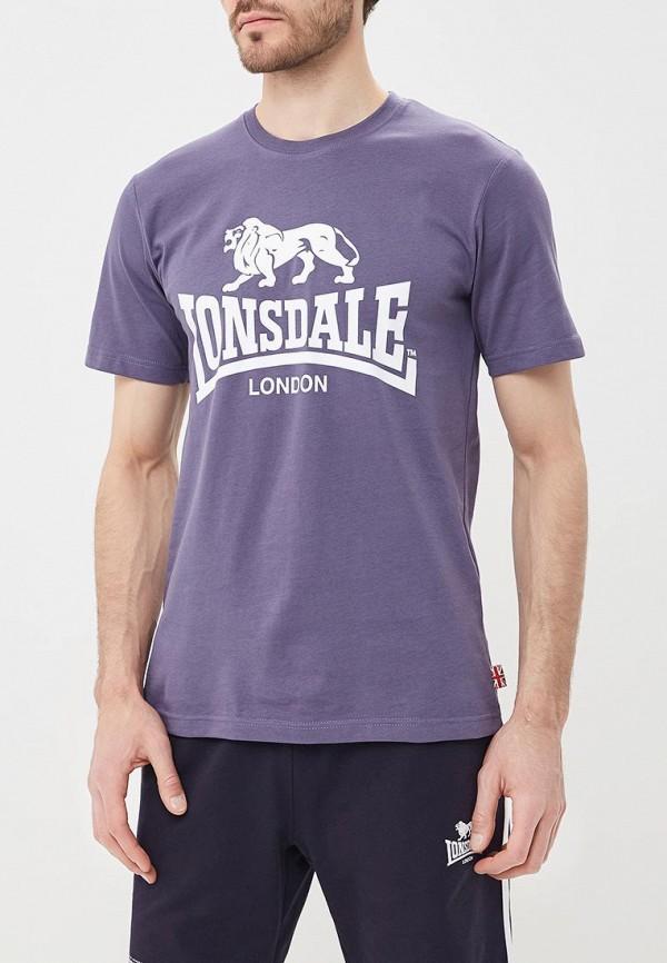 Купить Футболка Lonsdale, LO789EMBIQW1, фиолетовый, Осень-зима 2018/2019