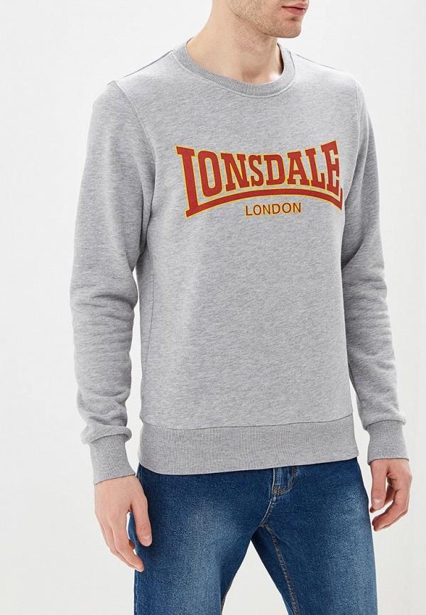 мужской свитшот lonsdale, серый