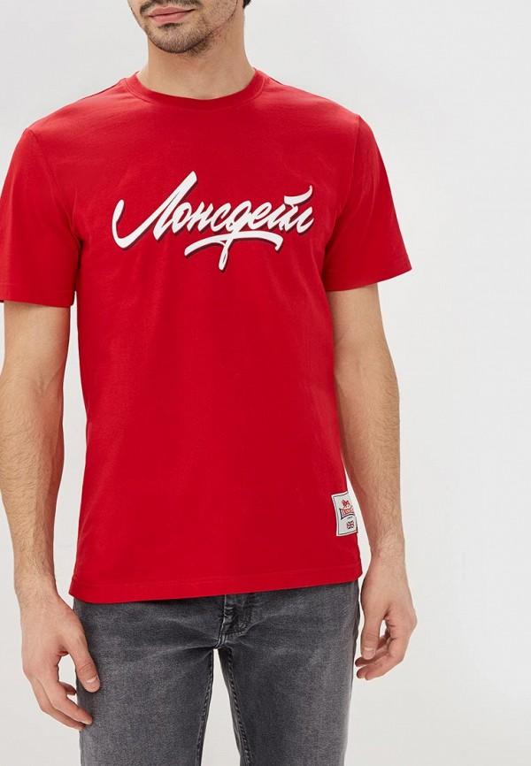 мужская футболка lonsdale, красная