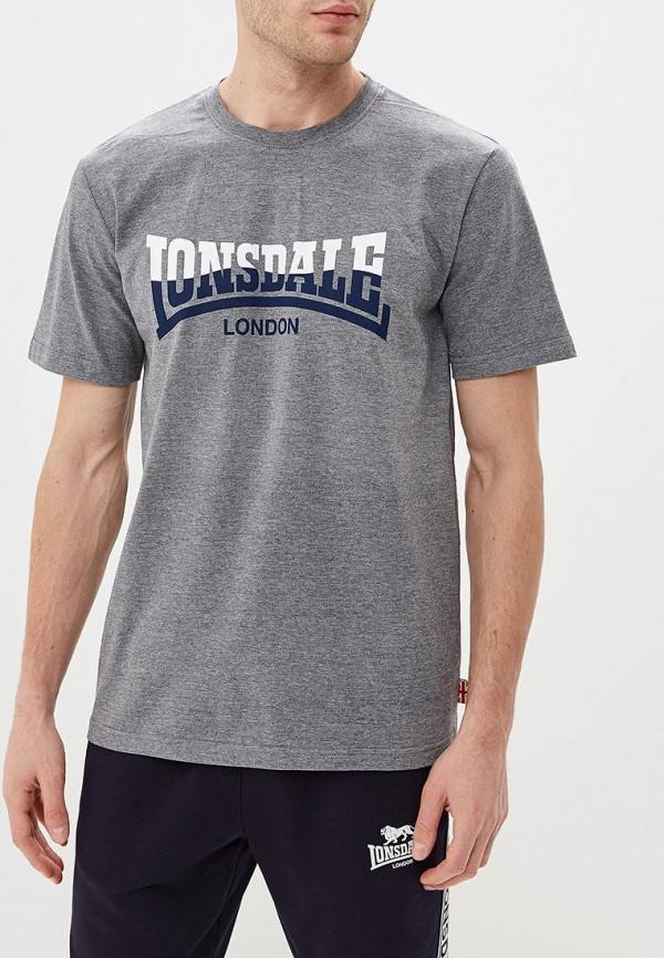 мужская футболка lonsdale, серая