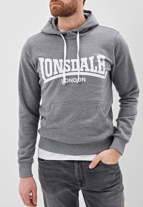 мужские худи lonsdale, серые