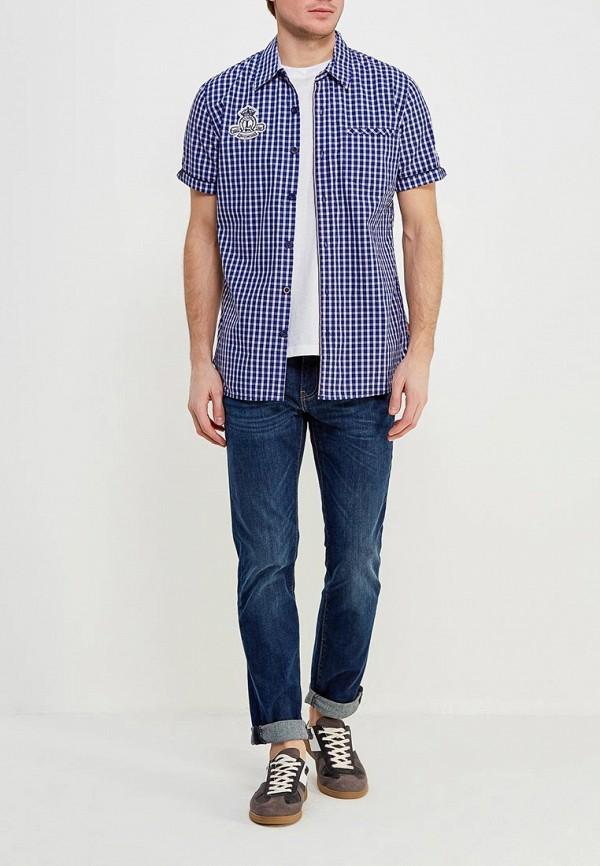 Фото 2 - мужскую рубашку Lonsdale синего цвета