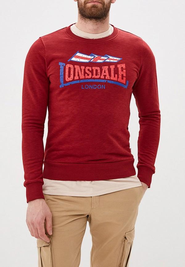 мужской свитшот lonsdale, красный