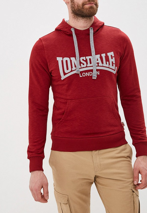 мужские худи lonsdale, красные