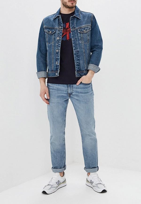 Фото 2 - мужскую футболку Lonsdale синего цвета