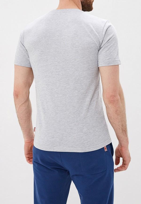 Фото 3 - мужскую футболку Lonsdale серого цвета