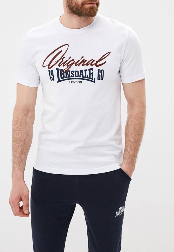 Фото - мужскую футболку Lonsdale белого цвета