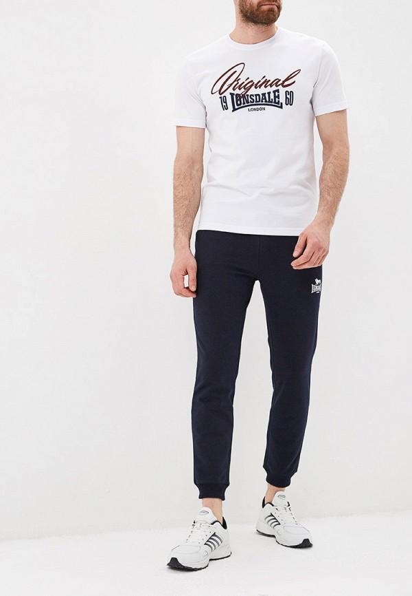 Фото 2 - мужскую футболку Lonsdale белого цвета