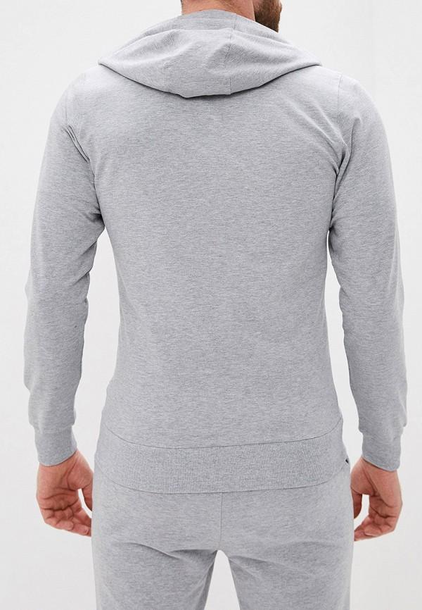 Фото 3 - мужскую толстовку Lonsdale серого цвета