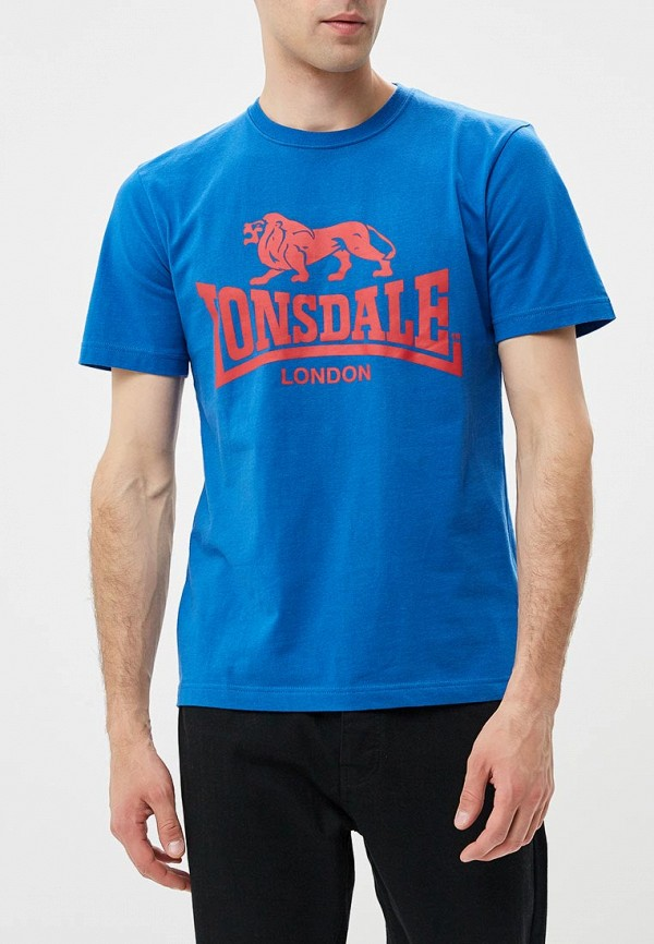 Купить Футболка Lonsdale, lo789emfjo92, синий, Осень-зима 2018/2019