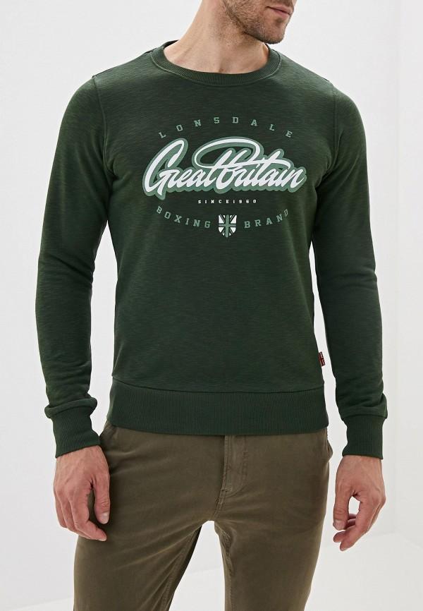 мужской свитшот lonsdale, зеленый