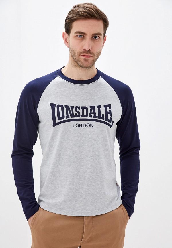 мужской лонгслив lonsdale, серый