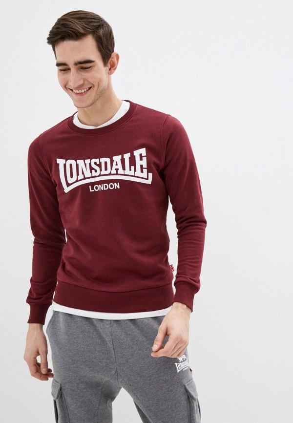 мужской свитшот lonsdale, бордовый