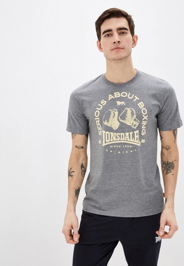 мужская спортивные футболка lonsdale, серая