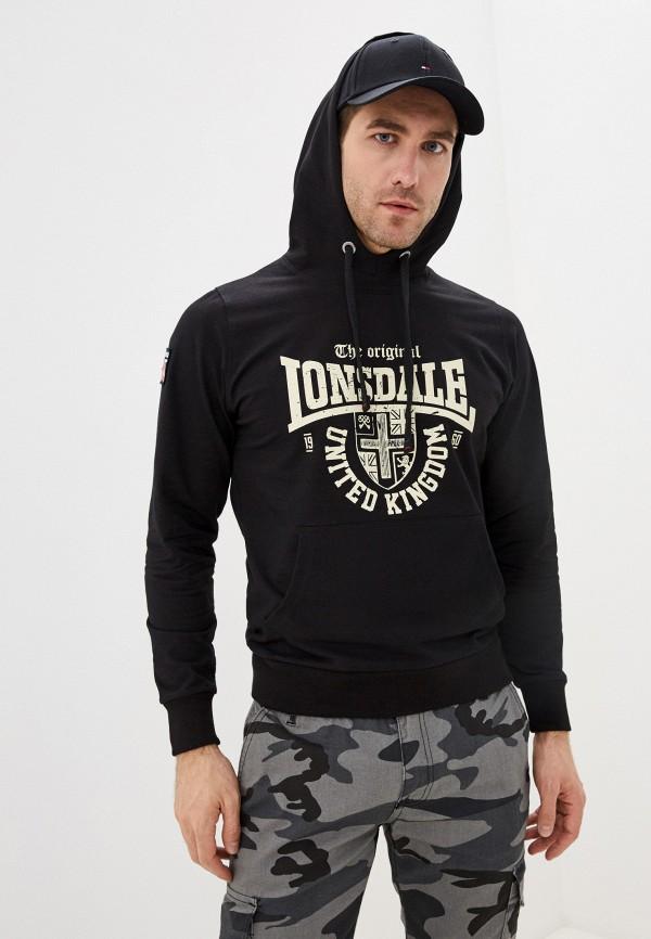 мужские худи lonsdale, черные