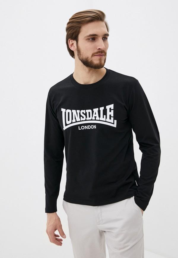 мужской лонгслив lonsdale, черный