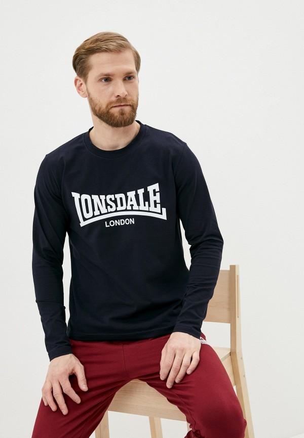 мужской лонгслив lonsdale, синий