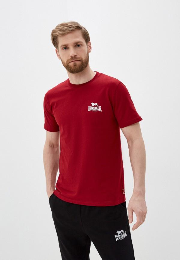 мужская спортивные футболка lonsdale, бордовая