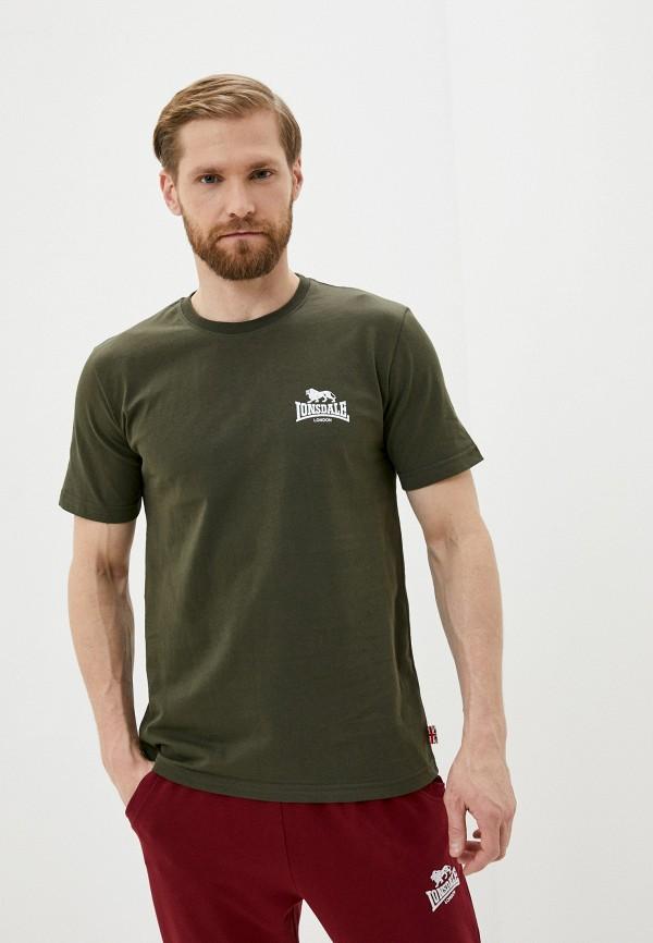 мужская спортивные футболка lonsdale, зеленая