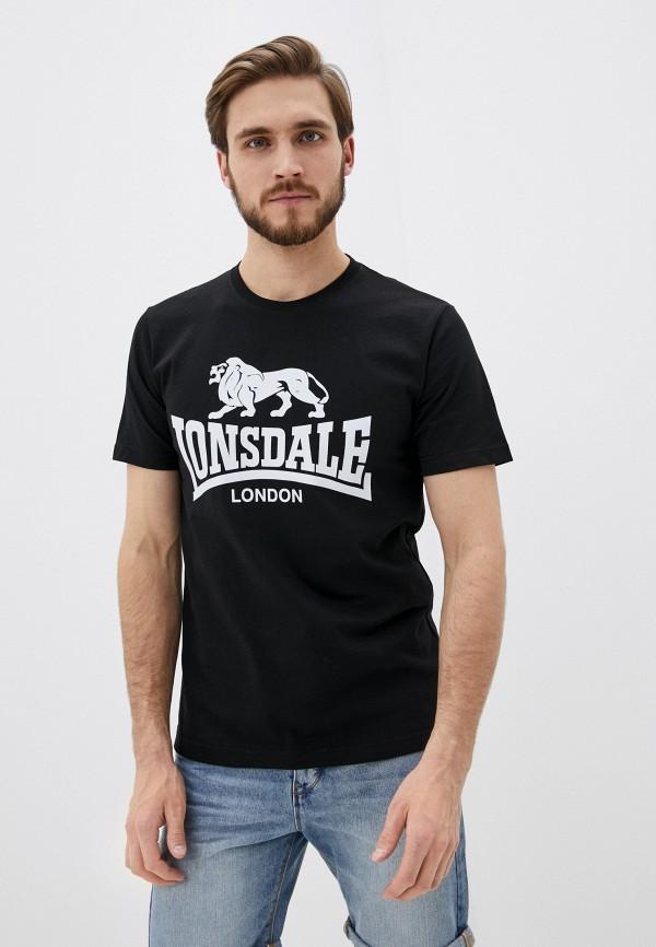 мужская спортивные футболка lonsdale, черная