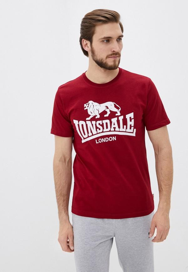 мужская спортивные футболка lonsdale, красная