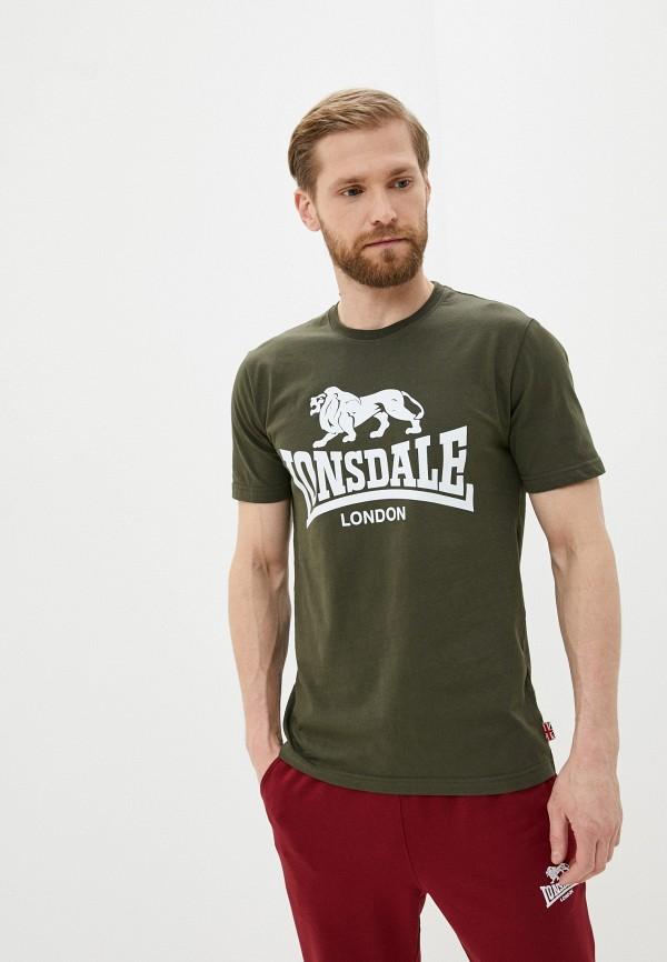 мужская спортивные футболка lonsdale, хаки