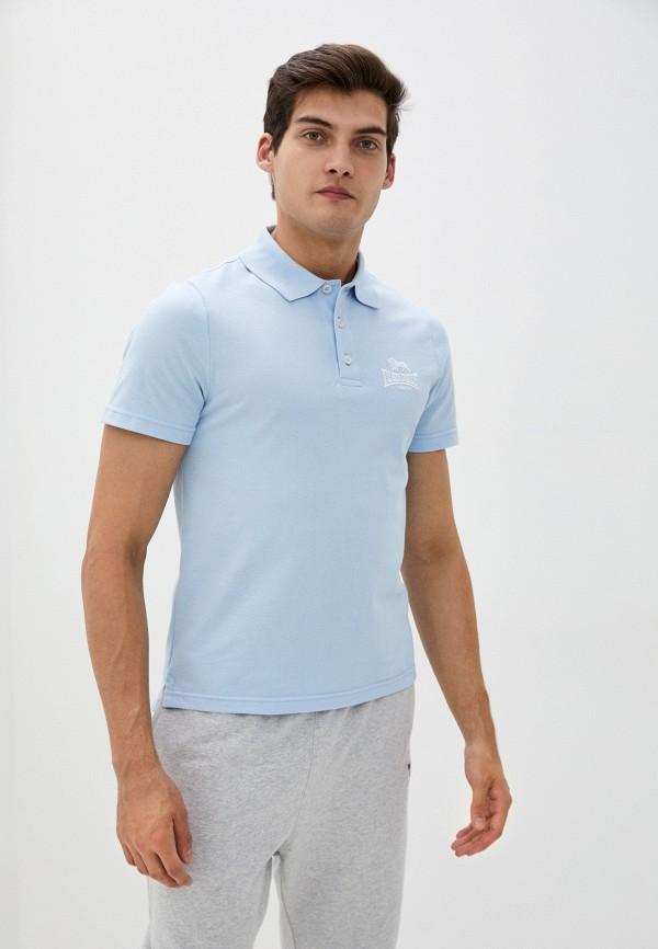 мужское поло lonsdale, голубое