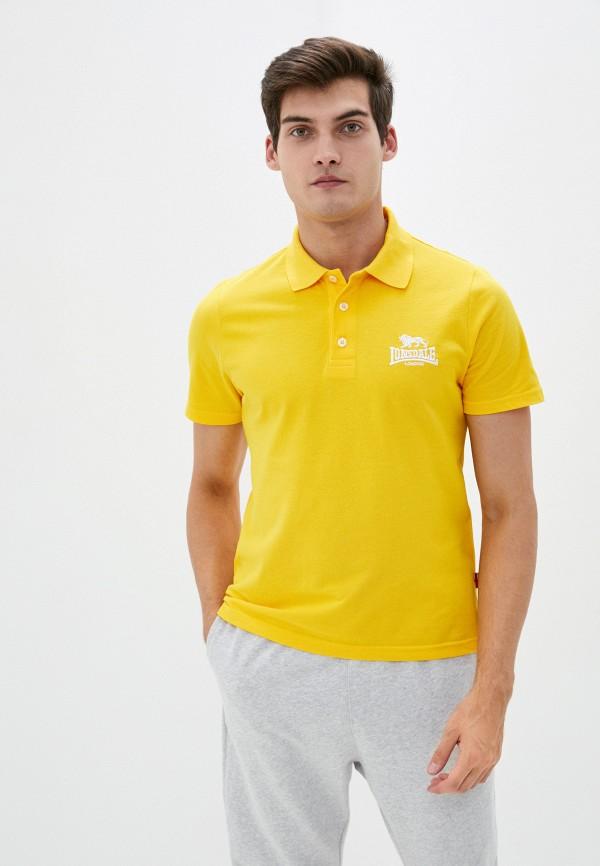 мужское поло lonsdale, желтое