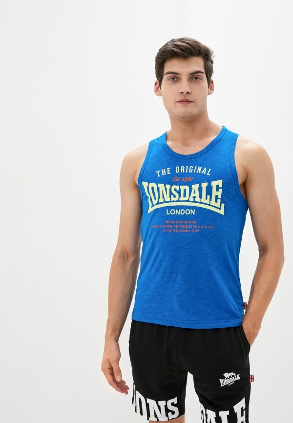 мужская спортивные майка lonsdale, синяя