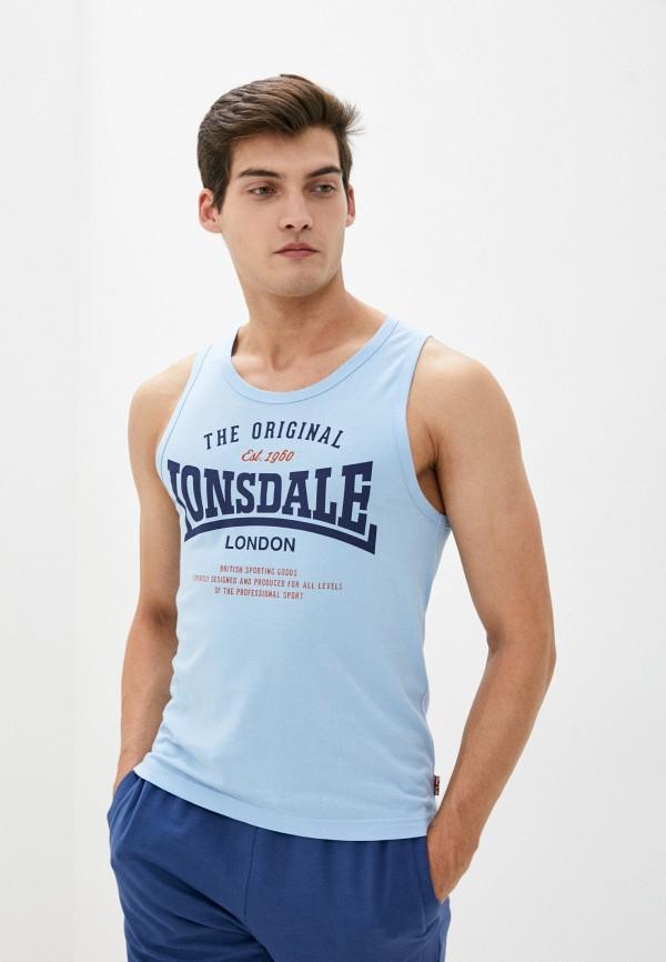 мужская спортивные майка lonsdale, голубая