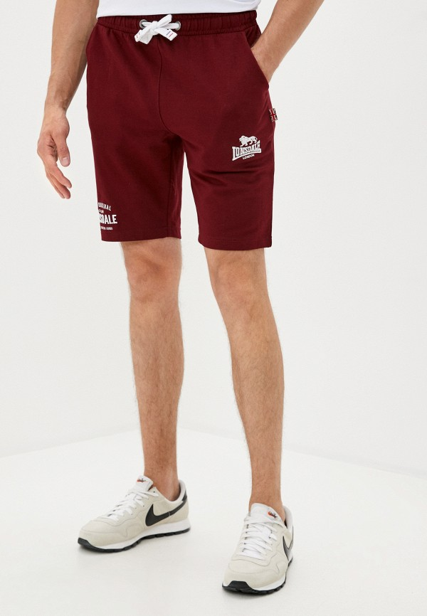 мужские спортивные шорты lonsdale, бордовые