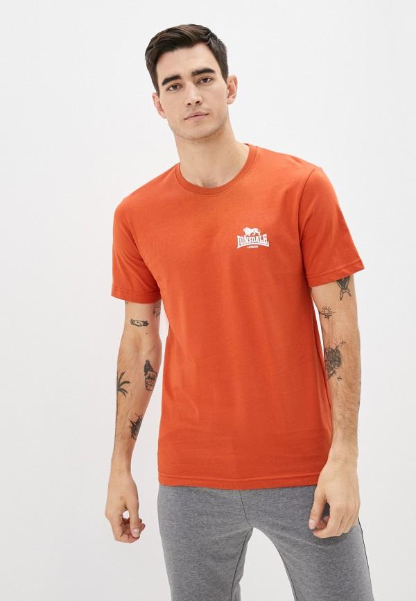 мужская спортивные футболка lonsdale, оранжевая