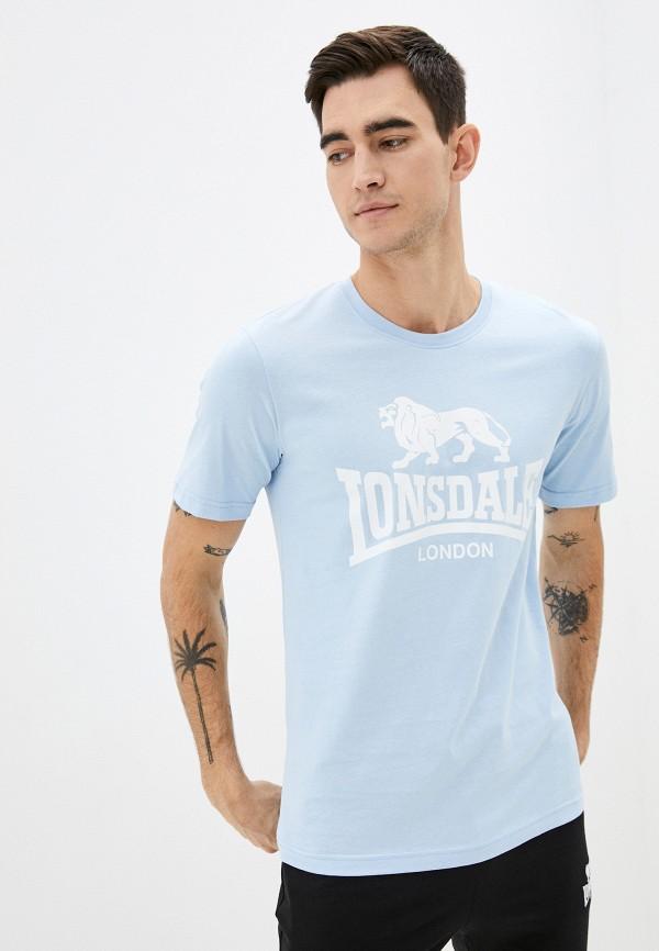 мужская спортивные футболка lonsdale, голубая