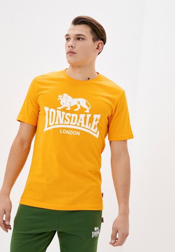 мужская спортивные футболка lonsdale, желтая