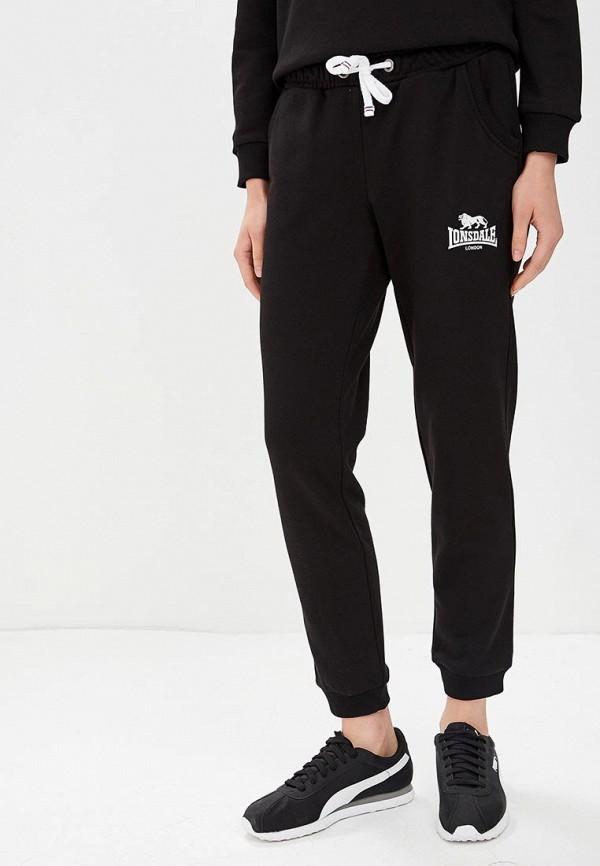 женские спортивные спортивные брюки lonsdale, черные