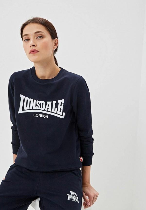 женский свитшот lonsdale, синий