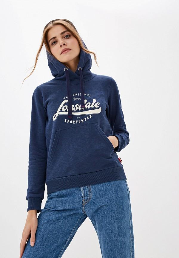 женские худи lonsdale, синие