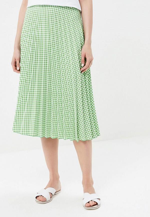 женская юбка миди love & light, зеленая