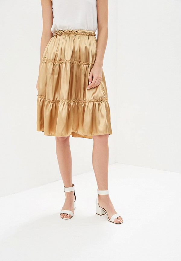 женская прямые юбка love & light, бежевая