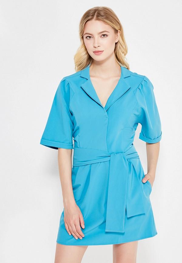 женское платье миди love & light, голубое