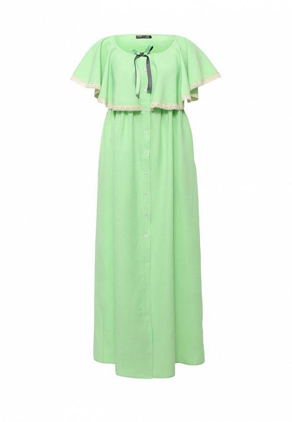 женское вечерние платье love & light, зеленое