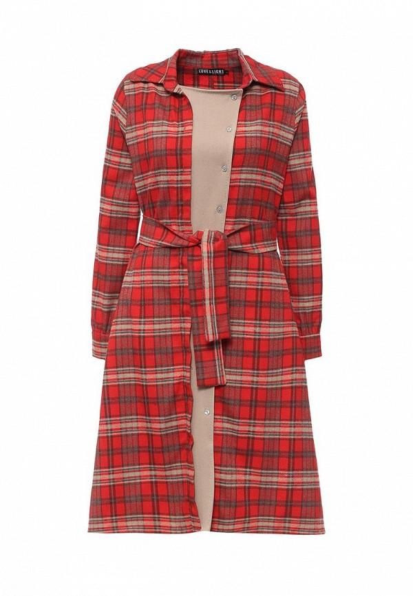 Купить Платье Love & Light, LO790EWLEN74, красный, Осень-зима 2016/2017